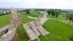 Flyg- sikt av det nionde fortet, Kaunas - Litauen Arkivbild