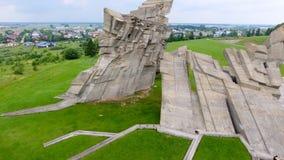 Flyg- sikt av det nionde fortet, Kaunas - Litauen Royaltyfri Bild