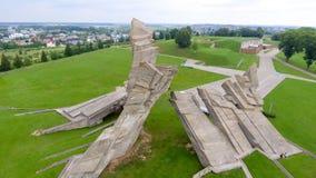 Flyg- sikt av det nionde fortet, Kaunas - Litauen Royaltyfri Fotografi