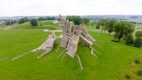 Flyg- sikt av det nionde fortet, Kaunas - Litauen Arkivfoton