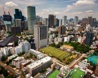 Flyg- sikt av det Roppongi området av Minato från det Tokyo tornet, Tok Royaltyfria Bilder