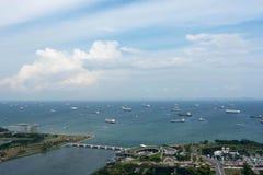 Flyg- sikt av det singapore havet med galter Royaltyfria Bilder