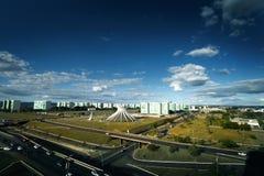 Flyg- sikt av domkyrkan för Brasilia ` s royaltyfria foton