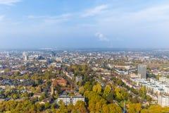 Flyg- sikt av Dortmund, Tyskland royaltyfri bild