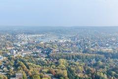 Flyg- sikt av Dortmund, Tyskland royaltyfria bilder