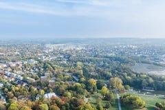 Flyg- sikt av Dortmund, Tyskland arkivfoton
