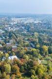 Flyg- sikt av Dortmund, Tyskland fotografering för bildbyråer