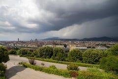 Flyg- sikt av Duomodomkyrkan i Florence Italy Royaltyfri Fotografi