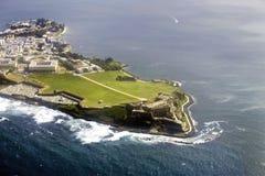 Flyg- sikt av El Morro Puerto Rico Royaltyfri Bild