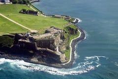 Flyg- sikt av El Morro Puerto Rico Arkivbilder