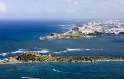 Flyg- sikt av El Morro Puerto Rico Arkivbild