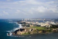 Flyg- sikt av El Morro Puerto Rico Fotografering för Bildbyråer