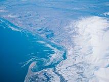 Flyg- sikt av en Alaska nationalpark arkivfoto