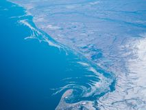 Flyg- sikt av en Alaska nationalpark arkivbild
