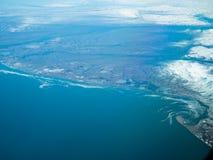 Flyg- sikt av en Alaska nationalpark arkivbilder