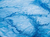 Flyg- sikt av en Alaska nationalpark royaltyfri fotografi