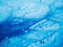 Flyg- sikt av en Alaska nationalpark royaltyfri bild