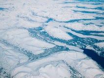 Flyg- sikt av en Alaska nationalpark royaltyfri foto