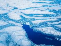 Flyg- sikt av en Alaska nationalpark royaltyfria bilder