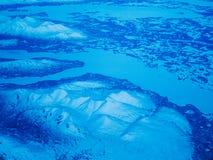 Flyg- sikt av en Alaska nationalpark royaltyfria foton