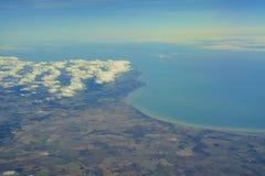 Flyg- sikt av Förenade kungariket Royaltyfria Bilder