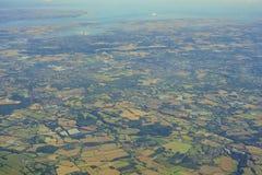 Flyg- sikt av Förenade kungariket Fotografering för Bildbyråer
