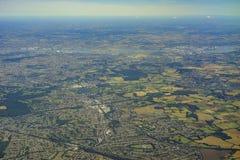 Flyg- sikt av Förenade kungariket Royaltyfri Bild