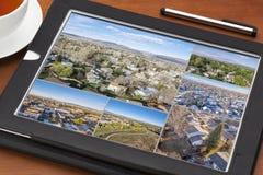 Flyg- sikt av fastigheten i Fort Collins Arkivbilder