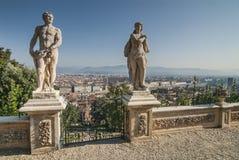 Flyg- sikt av Florence från Bardini trädgårdar Arkivbild