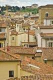 Flyg- sikt av Florence från Giottos det Klocka tornet Royaltyfri Foto