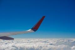 Flyg- sikt av flygplanflyget Royaltyfri Foto