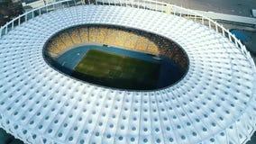 Flyg- sikt av fotbollsarena i Kyiv arkivfilmer