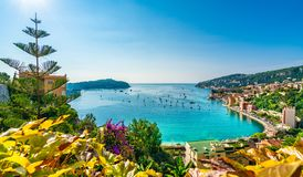Flyg- sikt av franska Riviera, Frankrike royaltyfri foto