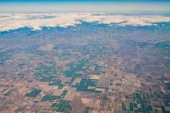 Flyg- sikt av Fresno område Royaltyfria Bilder