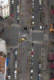 Flyg- sikt av gatan i paris Royaltyfri Bild