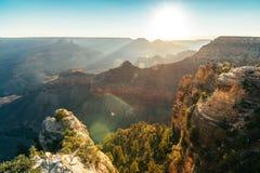 Flyg- sikt av Grand Canyonnationalparken, arizona arkivbilder