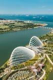 Flyg- sikt av härliga Singapore royaltyfria bilder