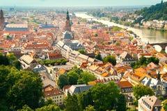 flyg- sikt av Heidelberg Royaltyfria Bilder
