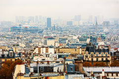 Flyg- sikt av historiska byggnader i Paris, Frankrike Royaltyfri Foto