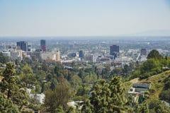 Flyg- sikt av Hollywood område Royaltyfria Bilder