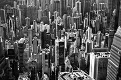Flyg- sikt av Hong Kong Royaltyfri Fotografi