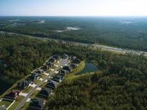 Flyg- sikt av hus i Yulee Florida Arkivfoton