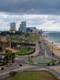 Flyg- sikt av huvudstaden av Sri Lanka - Colombo Sikt i molnigt väder royaltyfria foton