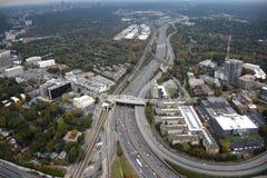 Flyg- sikt av i stadens centrum Atlanta royaltyfri bild