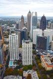 Flyg- sikt av i stadens centrum Atlanta royaltyfria bilder