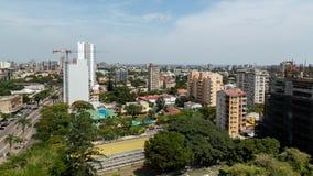 Flyg- sikt av i stadens centrum Maputo Arkivbilder