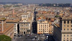Flyg- sikt av i stadens centrum Rome, Italien royaltyfri fotografi