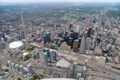 Flyg- sikt av i stadens centrum Toronto Royaltyfria Foton