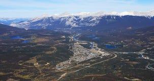 Flyg- sikt av jaspisen i Alberta, Kanada Royaltyfria Bilder