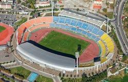 Flyg- sikt av Kaftatzoglio stadion, Thessaloniki fotografering för bildbyråer